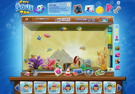 Free aqua zoo geht in die open beta for Rundes aquarium