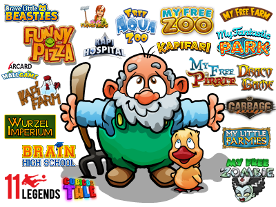 Derzeitige Browsergames von Upjers