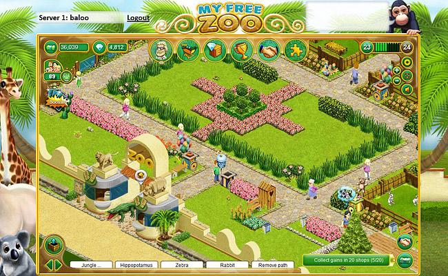 My Free Zoo – Le jeu de zoo par navigateur sur Upjers.com