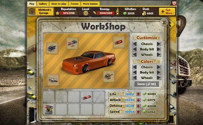 Garbage garage online webbl sarspel for Build a garage online