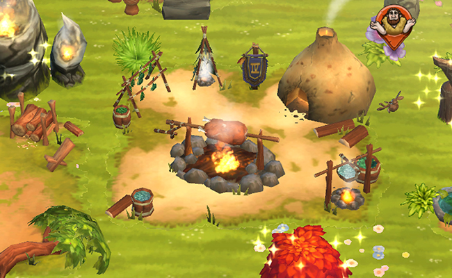 As the leader of a Stone Age tribe, you accompany your prehistoric kin  through various eras. Teach them to make fire ...