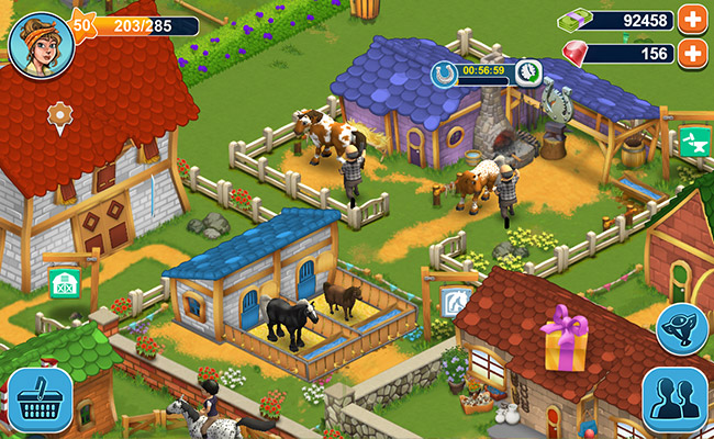 horse farm distracție cu cai în joc browser