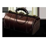 Ein alter Koffer im Spiel