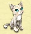 Άσπρη γάτα φάρμας